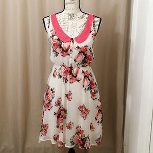 Xhilaration White Floral Print Dress